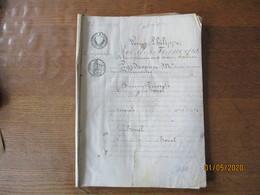FALAISE LE 24 AVRIL 1834 PARTAGE ANTICIPE LES SIEUR & DAME HOUEL ENTRE LEURS DEUX ENFANTS PARCHEMIN CACHETS CALVADOS TIM - Manuskripte