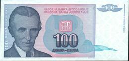 YUGOSLAVIA - 100 Dinara 1994 {Narodna Banka Jugoslavije} UNC P.139 - Yugoslavia
