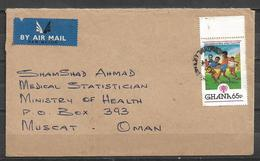 USED AIR MAIL COVER GHANA TO OMAN FOOTBALL INTERNATIONAL YEAR OF CHILD 1979 - Ghana (1957-...)