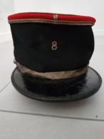 Képi Mou D'Adjudant Chef 8 E Régiment De Dragons Type 1920 - Headpieces, Headdresses