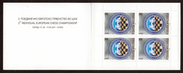 Macedonia 2001 Chess, European Championship In Ohrid, Block Of 4 In Numerated Booklet, MNH - Macédoine