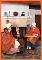 88 MENESTRELS DE GERARDMER Fileuse Rouet Et Epinettiste Costumes Vieux Metiers Carte Vierge TBE - Gerardmer