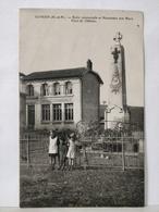Euvezin. Ecole Communale Et Le Monument Aux Morts. Place Du Château - Autres Communes