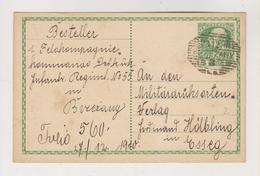 AUSTRIA,UKRAINE 1910 BEREZHANY Postal Stationery - Covers & Documents