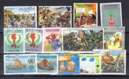 Kleiner Posten Gestempelter Libyscher Briefmarken, Gemäss Scan, Los 52407 - Libia