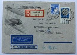 Aangetekend Schrijven Van Osnabrück Naar Batavia In Nederlands - Indië 1933? - Deutschland