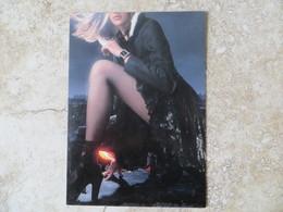CPM Publicité Montre Pin Up Talon Dentelle Voir Recto - Werbepostkarten