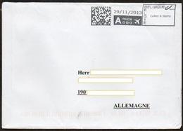 Belgien 2013 Brief/ Letter Nach Deutschland,  Maschinenstempel - Franking Machines