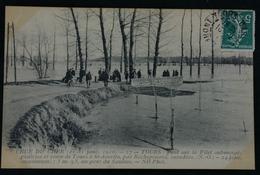 Crue Du Cher Pont Sur Le Filet Submergé:prairies Et Route De Tours - Tours