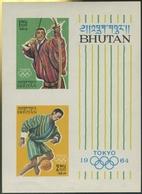 Bhutan 1964 Olympiade Bl 1 B Postfrisch (C30107) - Bhoutan