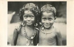 DEUX JEUNES ENFANTS AFRICAINS CARTE PHOTO - Non Classés