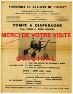 35 -Vitré  Fonderies Et Ateliers De L'Ouest - Machines Agricoles Appareils De Cidrerie Vinification - Pompe à Diaphragme - Autres Appareils