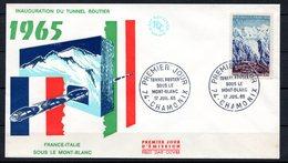 FDC FRANCE 1965 - N° 1454 - Tunnel Routier Sous Le Mont-Blanc - 1960-1969