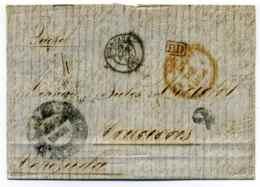 Lettre De Bordeaux Pour Caracas VENEZUELA / Dept 32 Gironde / 1854 - 1849-1876: Classic Period