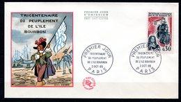 FDC FRANCE 1965 - N° 1461 - Tricentenaire Du Peuplement De L'Ile Bourbon - 1960-1969