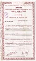 Titre Ancien - Emprunt Libératoire Du Prélèvement Exceptionnel De Lutte Contre L'Inflation - Titre De 10000 Francs -1948 - Actions & Titres