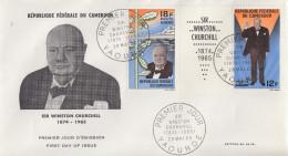 Enveloppe  FDC  1er  Jour   CAMEROUN    Sir   Winston  CHURCHILL    1965 - Sir Winston Churchill