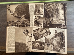 1936 M CAMPER CAMPING EN FORET DANS LES VOSGES ROUTE DE BERARDE VALLEE DU VENEON - Sammlungen
