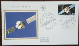 FDC 1984 - YT N°2333 - TELECOM 1 - PARIS - 1980-1989