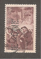 Perforé/perfin/lochung France No 390 CNE Comptoir National D'Escompte (310) - Perfin