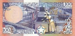 SOMALIA P. 35b 100 S 1987 AUNC - Somalia
