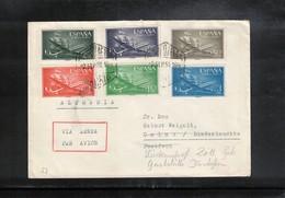 Spain 1957 Interesting Airmail Letter - 1951-60 Briefe U. Dokumente