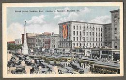 Soldiers' Parade, Broad Street Looking East, Augusta, Georgia, 1920s - Augusta