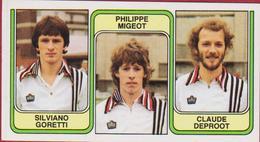 Panini Football 83 Voetbal Belgie 1983 Sticker Nr. 375 SC Charleroi Silviano Goretti Philippe Migeot Claude Deproot - Sport