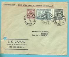 715+768+772 Op Brief REMBOURSEMENT Stempel HERBESTHAL (Oostkantons-Canton De L'Est) - 1948 Export