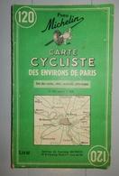CARTE MICHELIN 120 1959 CYCLISTE DES ENVIRONS DE PARIS - Maps/Atlas