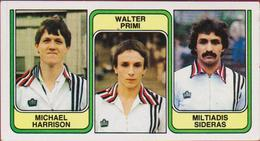 Panini Football 83 Voetbal Belgie 1983 Sticker Nr 377 SC Charleroi Michael Harrison Walter Primi Miltiadis Sideras - Sport