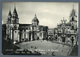 °°° Cartolina - Acireale Stazione Di Cura Il Duomo E La Basilica Nuova °°° - Acireale