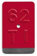 Velonummer Tessin Ticino TI 62 - Nummerplaten