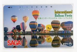 JAPON TELECARTE SAGA FIESTA INTERNATIONAL BALLOON - Telefoonkaarten