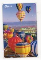JAPON TELECARTE BALLOON WORLD 1989 - Telefoonkaarten