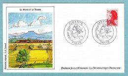 FDC France 1985 - La Liberté De Gandon (d'Eugène Delacroix) 1985 - 2,20 F Rouge - YT 2376 - 1980-1989