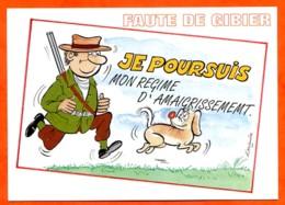 HUMOUR Chasse Faute De Gibier 5 Dessin Alexandre Lyna Carte Vierge TBE - Humour