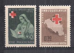 JUGOSLAVIA 1950 BENEFICENZA CROCE ROSSA YVERT. 11-12 MLH VF - 1945-1992 République Fédérative Populaire De Yougoslavie