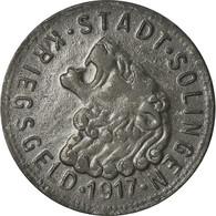 Monnaie, Allemagne, Kriegsgeld, Solingen, 50 Pfennig, 1917, TTB, Zinc - Monetary/Of Necessity