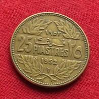 Lebanon 25 Piastres 1952 KM# 16.1 Liban Libano Libanon - Lebanon