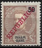 Inhambane – 1911 King Carlos Overprinted REPUBLICA 50 Réis Mint - Inhambane