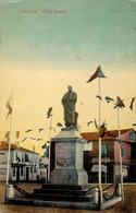ROUMANIE / ROMANIA - CONSTANTA : PIATA [ STATUIA ] OVIDIU - COAFOR : NOUL SALON De RAS TUNS Si FREZAT ~ 1910 (ae654) - Roumanie