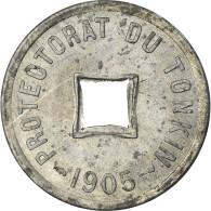 Monnaie, Tonkin, 1/600 Piastre, 1905, SUP+, Zinc, KM:1 - Vietnam