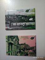 1 Set Lotto 2 Calamite CALAMITA SALUZZO 2017 Raduno ALPINI Italia Lucide 78x53 Mm - Tourisme