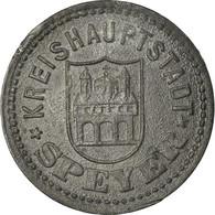 Monnaie, Allemagne, Kriegsnotgeld, Speyer, 10 Pfennig, 1917, TTB+, Zinc - Monetary/Of Necessity