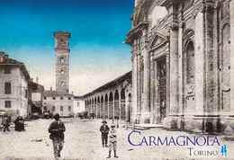 1 Calamita  Magnete Da Frigo CARMAGNOLA (TO) Italia Lucida  78x53 Mm - Tourism