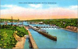 Washington Seattle Canal Locks Second To Panama - Seattle