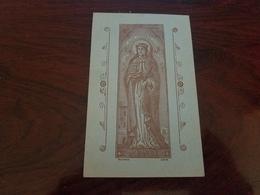 Image PIEUSE CHROMOS ARCHICONFRERIE DE SAINTE BARBE A BOURGES BERTHE BELLETRUD 16 OCTOBRE 1923 - Devotion Images