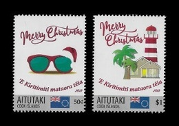 Aitutaki 2019 Mih. 1075/76 Christmas. Lighthouse MNH ** - Aitutaki