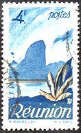 Réunion Obl. N° 274 - Détail De La Série émise En 1947 Le 4 F Bleu - Oblitérés